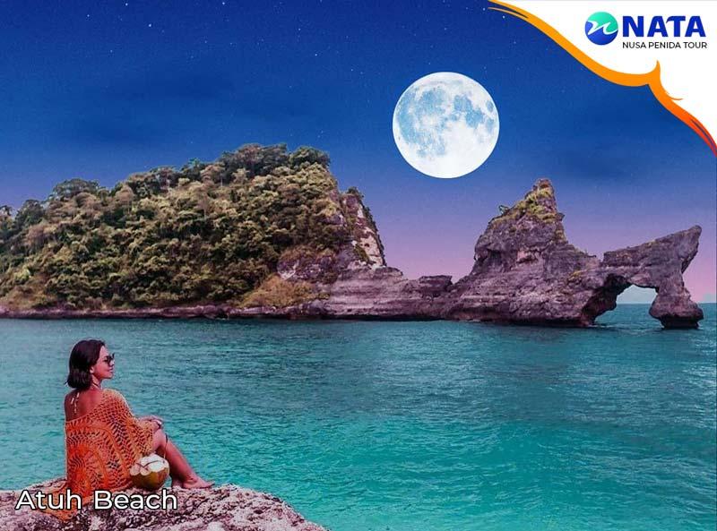 Nusa Penida tour 1 hari 1 malam atuh beach